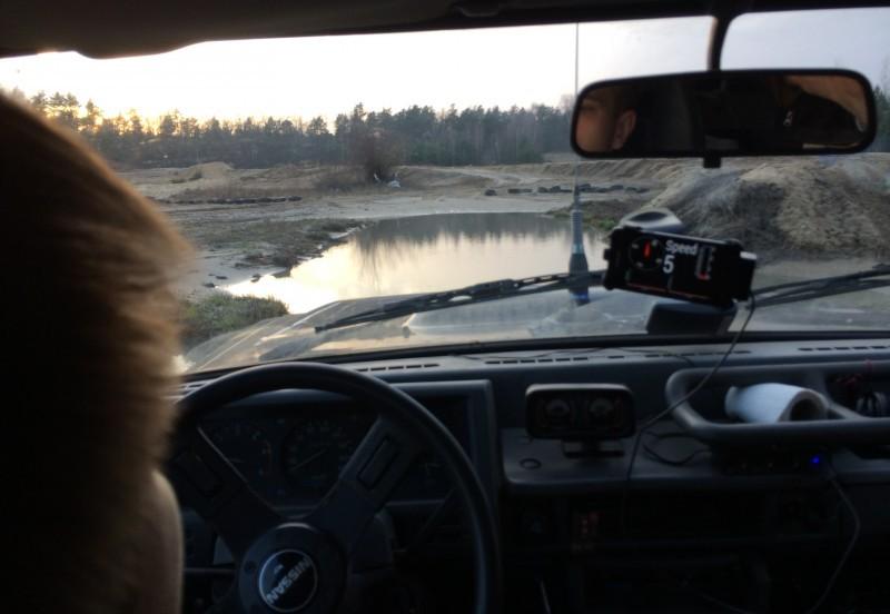 Wjazd w wode